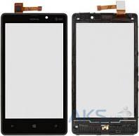 Сенсор (тачскрин) для Nokia Lumia 820 with frame Original Black