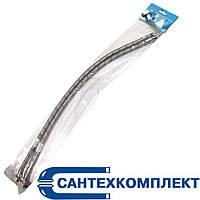 Шланг подводка к смесителю оплетка нержавейка М10*1/2в 50см