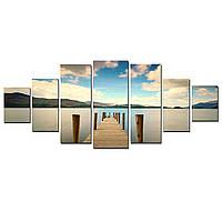 Модульные Светящиеся картины Startonight Причал на озере, 7 частей
