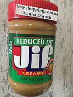 Кремовая арахисовая паста меньше жирности JIF, 454грамм, фото 1