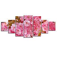 Модульные Светящиеся картины Startonight Розовые цветы, 7 частей