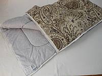 Одеяло стеганное, двуспальное евро, льнопоновое