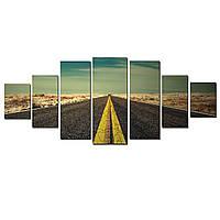 Модульные Светящиеся картины Startonight Дорога в пустыне, 7 частей