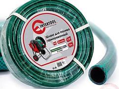 """Шланг поливочный """"Intertool"""" зеленый 3-х слойный арт. GE-4021 сечение 1/2"""", длина 10 м"""