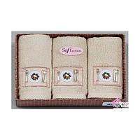 Салфетки махровые(хлопок)Soft Cotton30/50 см/ 3 штук