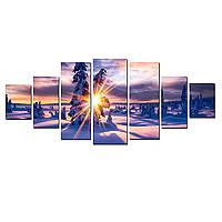 Модульные Светящиеся картины Startonight Волшебные лучи зимнего солнца, 7 частей, фото 1