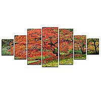 Модульные Светящиеся картины Startonight Японский клен , 7 частей