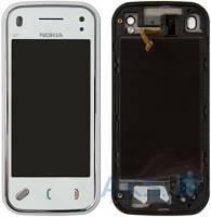 Сенсор (тачскрин) для Nokia N97 Mini with frame Original White