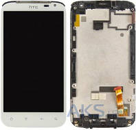 Дисплей (экран) для телефона HTC Sensation XL X315e G21 + Touchscreen with frame Original White