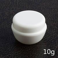 Баночка для крема с крышкой и защитным диском 10 мл