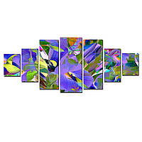 Модульные Светящиеся картины Startonight Абстрактный цветок, 7 частей