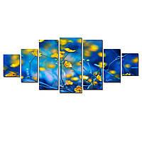 Модульные Светящиеся картины Startonight Лютики, 7 частей