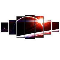 Модульные Светящиеся картины Startonight Восход над Сатурном, 7 частей