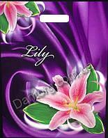 Пакет ламинированный Lily, Rose, For You 30х40 (прорезь)
