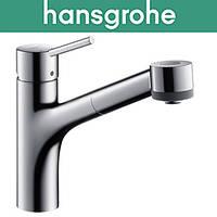 Смеситель Hansgrohe (art 32841000) для кухни Talis S 165 с выдвижным душем