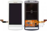 Дисплей (экран) для телефона Nokia 700 + Touchscreen Original White