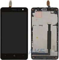 Дисплей (экраны) для телефона Nokia Lumia 625 + Touchscreen with frame Original