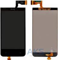 Дисплей (экран) для телефона HTC Desire 300, Desire 301e + Touchscreen Black