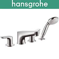 Смеситель Hangrohe (art 31936000) для ванной встраиваемый FOCUS на 4 отверстия