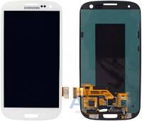 Дисплей (экран) для телефона Samsung Galaxy S3 I747, Galaxy S3 I9300, Galaxy S3 I9305, Galaxy S3 R530 + Touchscreen Original White