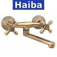Смеситель для кухни от стены HAIBA DOMINOX BRONZE (Chr-361)