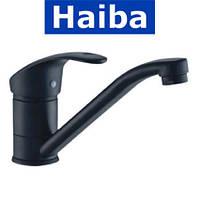 Смеситель для умывальника елка на шпильке 15см HAIBA MARS BLACK (черный) (Chr-004)