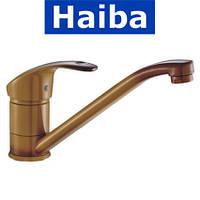 Смеситель для кухни елка на шпильке 25см HAIBA MARS Coffee (кофе) (Chr-004)