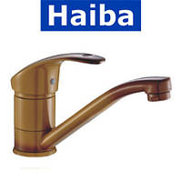 Смеситель для умывальника елка на шпильке 15см HAIBA MARS Coffe (кофе) (Chr-004)