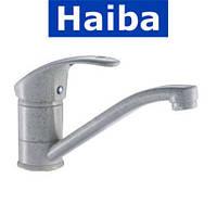 Смеситель для умывальника елка на шпильке 15см HAIBA MARS МС (молочный коктейль) (Chr-004)