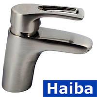 Смеситель для умывальника HAIBA HANSBERG нержавейка (Chr-001)