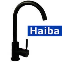 Смеситель для кухни Ухо HAIBA HANS BLACK (черный)