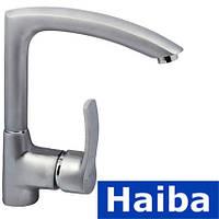 Смеситель для кухни Ухо HAIBA FOCUS SATIN 018 (Chr-018)
