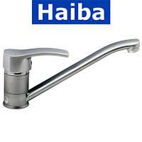 Смеситель для кухни елка на шпильке 25см HAIBA FOCUS SATIN (Chr-004)