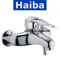 Смеситель для ванны короткий нос HAIBA FOCUS SATIN EURO (Chr-009)