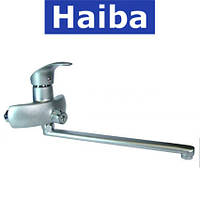 Смеситель для ванны длинный нос HAIBA MARS SATIN (Chr-006)