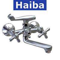 Смеситель для ванны короткий нос HAIBA DOMINOX SATIN (Chr-142)