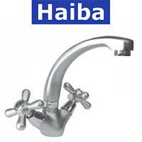 Смеситель для умывальника HAIBA DOMINOX  SATIN (Chr-272)