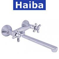 Смеситель для кухни от стены HAIBA DOMINOX SATIN (Chr-361)