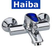 Смеситель для ванны короткий нос HAIBA MAGIC BLUE EURO (Chr-009)