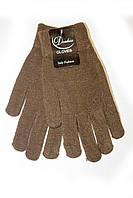Женские вязаные перчатки Коричневые