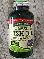 Рыбий жир в капсулах Nature's Truth Fish Oil Omega 3,  250 капсул, фото 1