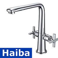 Смеситель для кухни ухо HAIBA OXFORD (Chr-018)