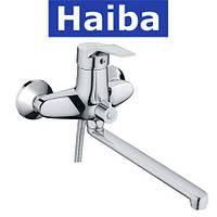 Смеситель для ванны длинный нос HAIBA ZEON EURO (Chr-006)