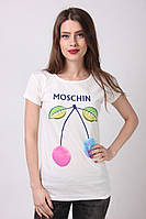 Женская футболка цвета мокко