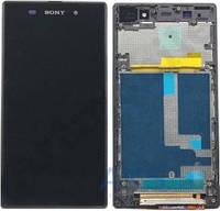 Дисплей (экран) для телефона Sony Xperia Z1 L39h C6902, Xperia Z1 C6903, Xperia Z1 C6906, Xperia Z1 C6943 + Touchscreen with frame Original Black