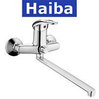 Смеситель для ванны длинный нос HAIBA LUXOR EURO (Chr-006)