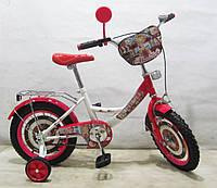 Велосипед TILLY Автоледі 14 T-21422 white + crimson