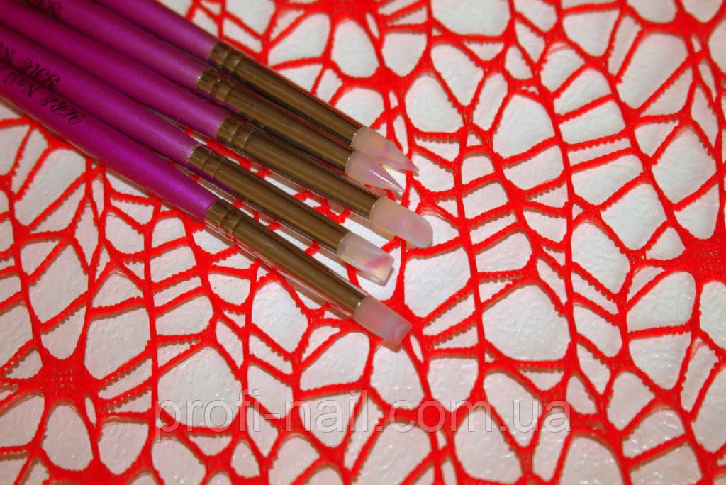 Набор силиконовых кистей для лепки и растушевки