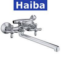 Смеситель для ванны длинный нос HAIBA DOMINOX (Chr-141)