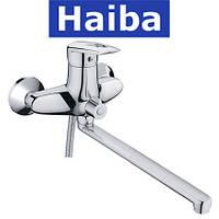 Смеситель для ванны длинный нос HAIBA DISK EURO (Chr-006)